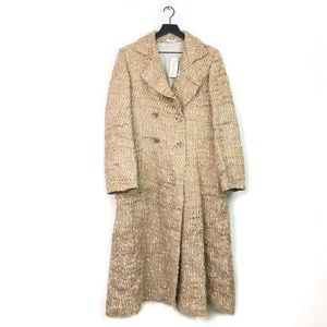 NWT Austin Reed   Tweed Double Breasted Long Coat